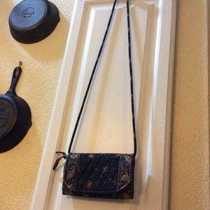 Vera Bradley vintage mini crossbody wallet